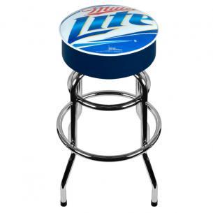 Buy Cheap Miller Lite Logo Padded Bar Stool